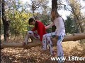 Two innocent 18yo chicks in the forest