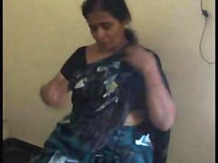 Indian mature Tamil bhabhi fucks her horny husband