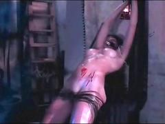 Sadistic Bdsm Babe Entertaining Pain