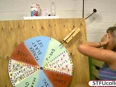 Wheel of fun for these college students