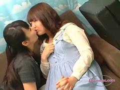 Shy Asian Girl Kissed Getting Her Tits Rubbed On The Couch