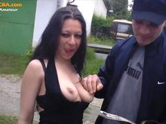 Real amateur gypsy threesome fucking