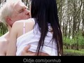 Passionate spring old and young fuck