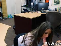 Big ass babe getting smashed doggy style for pawn shop cash