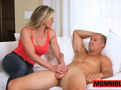 Lily Rader finds MILF Cory Chase with bf cock in her mouth