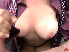 Holly West Tugs While Smoking