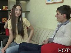 Super cute teen girlfriend handed over for cash