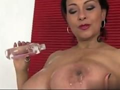 Donna Ambrose AKA Danica oiled up her ass and fools around
