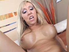Stellar blonde MILF Jessica Lynn spoon fucked and eaten out