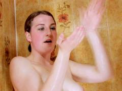 Teen babe in the shower