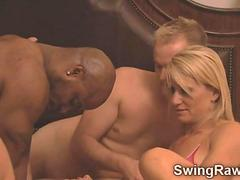 Darrel and Nikki go naughty in their first swinger orgy