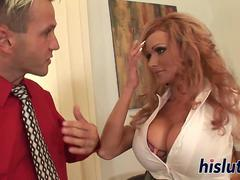 Sexy MILF with big boobs gets drilled
