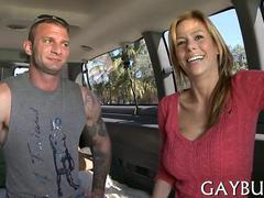 setting the dude up for one kinky ass fuck in the van