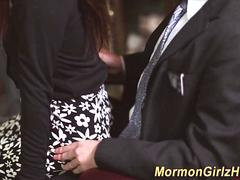 Mormon jizzed by elder