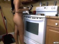 Nude Maid cleaning my place
