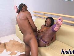 Voluptuous ebony goddess gets fucked really hard