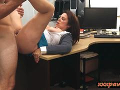 MILF fucked to earn some cash to bail out her husband