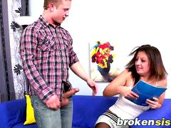 Step Sis Sue Kenyon Forced Into Blowing And Pounding