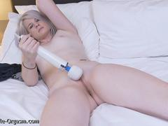 Blonde Coed Masturbates Goes For Two with the Hitachi