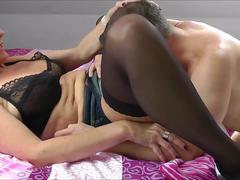 Cuckold Cleaning HEr Pussy With His Tongue
