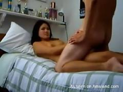 Petite Asian gets sticky cum on her boobs