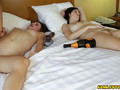 Two hotties are sleeping when a boy comes in and seduce one of them and bang her while other one is sleeping
