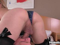 Horny mans asshole filled with tranny dick