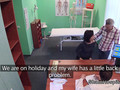 Doctor bangs wife while husband waits