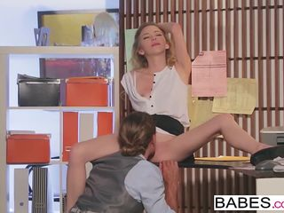babes - office obsession - tyler nixon and angel smalls - flirting binder