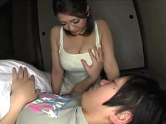 sexy busty asian babe gets her big tits sucked by her bf feature