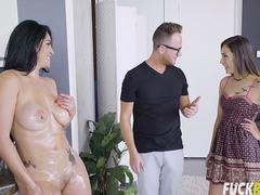 Jaye Summers And Cristal Caraballo In Cooking With Stepmom