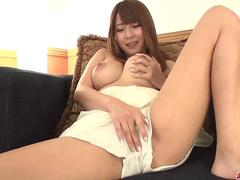 Hitomi Kitagawa uses tits and mouth to stimulate cock