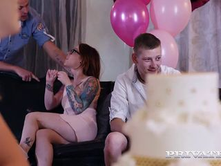 anny aurora and alexis crystal celebrate with an orgy