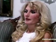 Anal with blonde in retro style