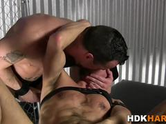Gay hunks face jizzed on