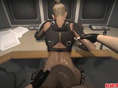 Sexy blonde Cassie Cage getting pussy drilled well
