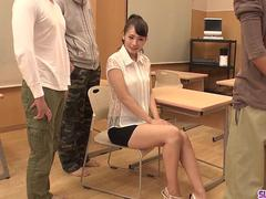 Shy Yui Oba gangbang oral sex and premium bukkake - More at Slurpjp.com