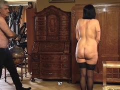 Girl with big butt whipped