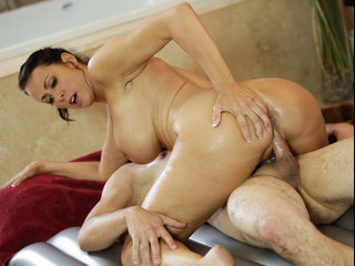 Step-moms secret nuru massage business!