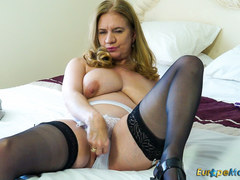 EuropeMaturE Hot Lusty Mature Playing with Toys
