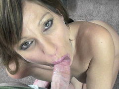 Petite MILF Brandi Minx is swallowing a strangers cock