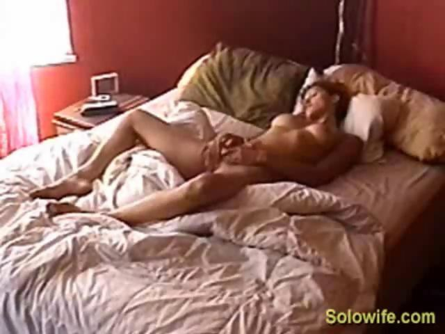Hidden solo wife masturbate