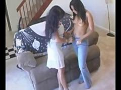 Amateur lesbian fuck with maid