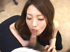 Japanese girl watches a guy masturbate his wang so hard
