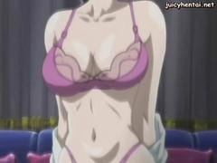 Anime milf gets licked and gangbanged