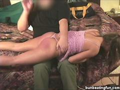 Bad model Alicia spanked