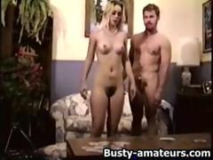 Busty blonde Sunny railed behind