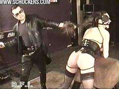 Ponygirl gets whipped whipping
