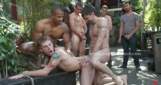 Gay slave gang bang