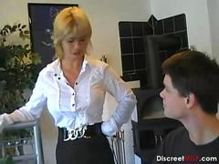 German Mom Teaches a Young Boy